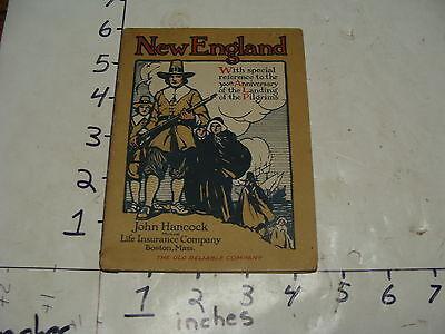 vintage book--NEW ENGLAND, 1920 booklet from John Hancodk Insurance