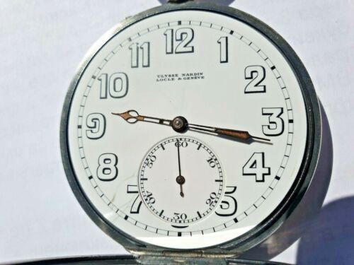 Antique Silver WW2 Ulysse Nardin Military Pocket Watch