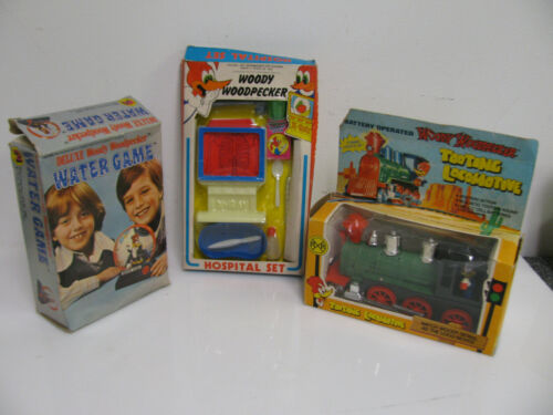 Vintage Woody Woodpecker Toys Tooting Locomotive Hospital Set Water Game