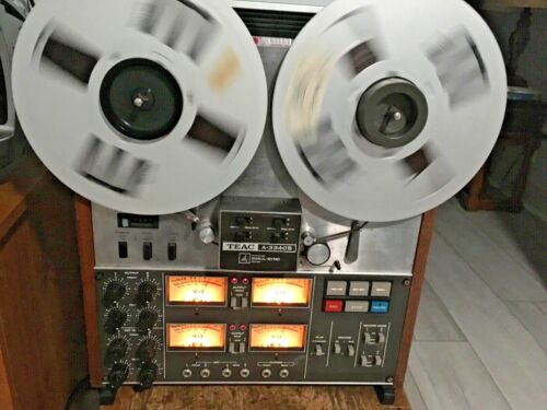 PLEASE READ TEAC A-3340S 4 TRACK QUAD 10.5 INCH REEL TO REEL TAPE DECK RECORDER