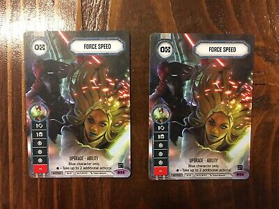 Star Wars Destiny - Force Speed 2x Alternate Art Promo NM/MINT