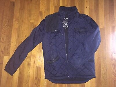 Jack & Jones JKT-7-8-9 Navy Blue Quilted Nylon Classic Everyday Jacket for sale  New York