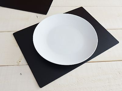 Set of 6 Black EXTRA LARGE Leatherboard PLACEMATS