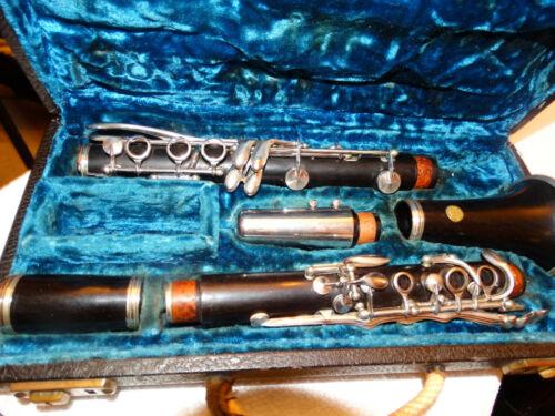 Rare Conn 464N B-flat Grenadilla Wood 7 ring Clarinet near Flawless 1940 Model