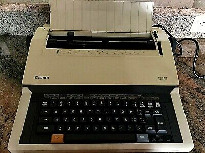 Vintage Canon Es5 Portable Electronic Typewriter Wcover Cord - Tested Working