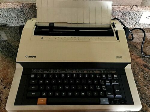 Vintage Canon ES5 Portable Electronic Typewriter w/Cover & Cord - Tested Working
