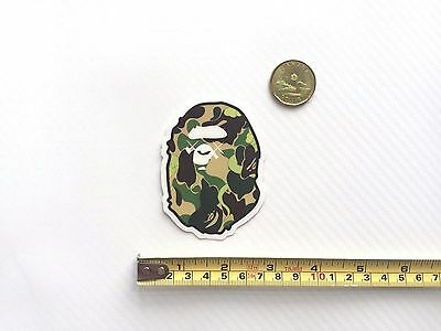Quality A Bathing Ape Bape x Original Fake XX Green Camo Vinyl Sticker PVC Decal