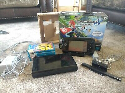 Nintendo Wii U Bundle 32gb Black with games