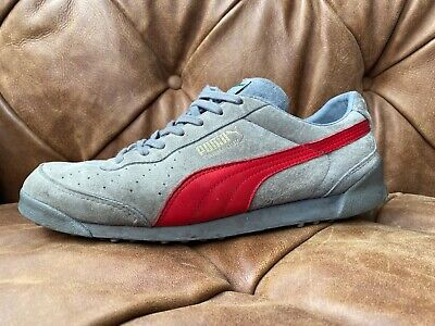 Puma mens Trimm Quick Trainers Grey and Red size 9