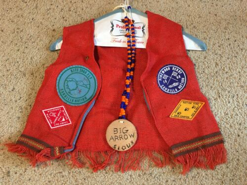 VTG Boy Vest Rare 1968 Pinewood Derby Cahuilla Natiion Hike Y-India YMCA Patch