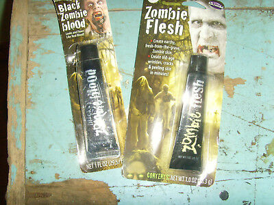 NEW Zombie Flesh and Black Zombie Blood Halloween makeup costume accessory NIP