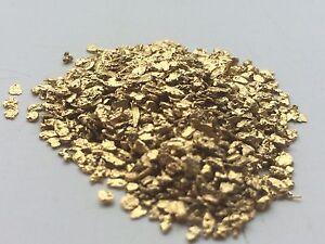 GENUINE NATURAL ALASKAN FLAKES/DUST PAN GOLD NUGGETS 1/4 GRAM