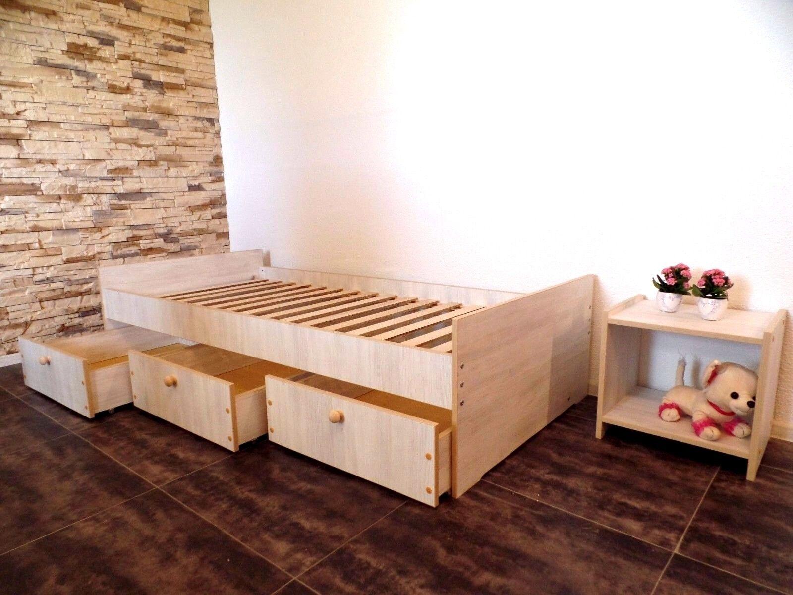 Jugendbett 100x200 funktionsbett einzelbett kojenbett wei grau eur 115 90 picclick es - Funktionsbett 100x200 ...