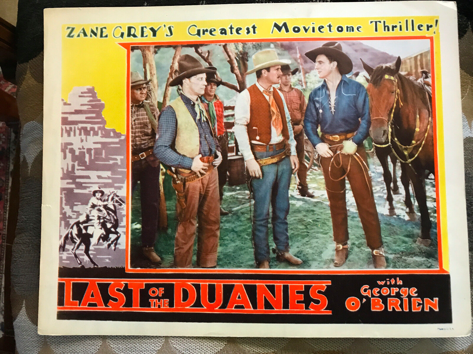 Last of the duanes 1930 fox western lobby card george o'brien