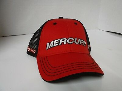 09ab9441ced39 NEW Mercury PRO TEAM EFFORT HAT. RED BLACK WITH MOTOR GUIDE