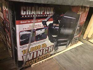 CHAMPION 10587 Winch - 10,000 lbs - 12v DC