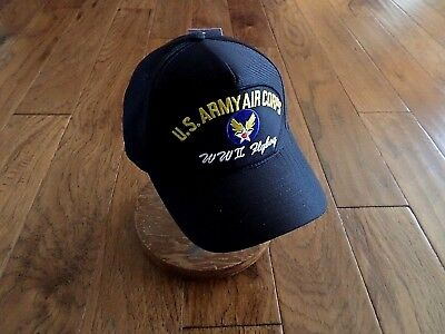Wwii Ball Cap - WWII U.S ARMY AIR CORPS FLYBOY HAT U.S MILITARY OFFICIAL BALL CAP U.S.A MADE