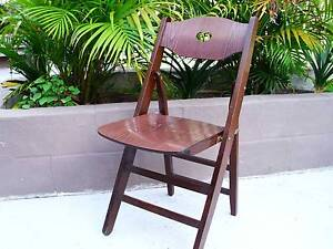 Richardson Vintage Charming Wooden Folding Chair Stool Little Bay Eastern Suburbs Preview