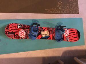 Rome snowboard and bindings OBO