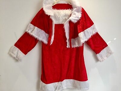 Female Mrs Santa Suit Xmas Costume Sz 14-16 Ladies Christmas Dress & Cape New