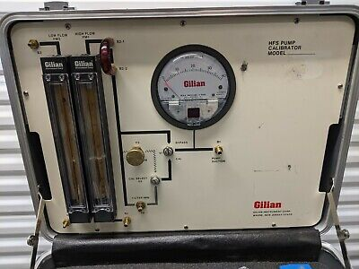 Gilian Hfs Pump Calibrator Kit Wdual Hfs513a Air Flow Samplers