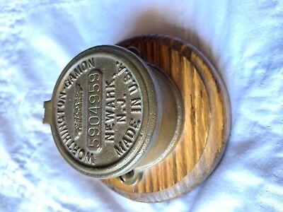 Vintage Worthington Gamon Meter Co Newark Nj Water Utility Cap Desk Holder
