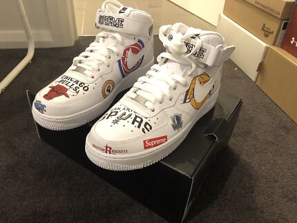 Nike Air Force With Supreme With NBA US 8.5 Clayton Monash Area Preview