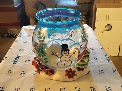 Christmas themed fishbowl](Halloween Fish Bowl)