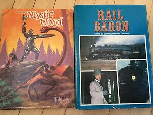 Avalon Hill Board Games: Rail Baron & The Mystic Wood
