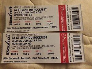 Billets de La st-jean Rockfest