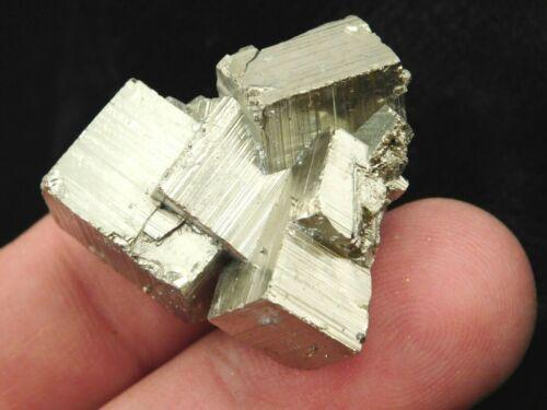 PYRITE Crystal CUBE Floater Cluster Peru 25.1gr