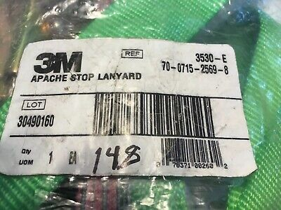 3M™ Apache Energy Absorbing Lanyard with Snap Hooks 3530-E