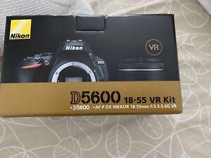 New NIKON D5600 W/AF-P DX 18-55MM VR lens kit