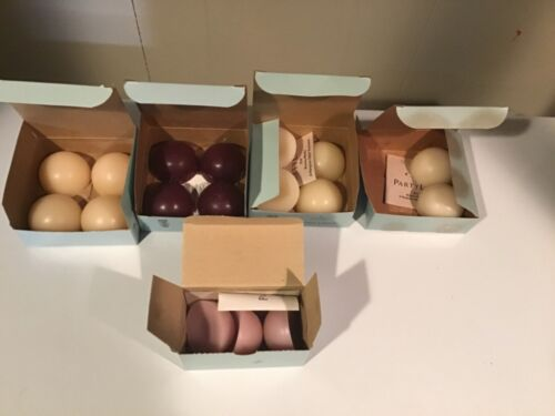 LOT OF UNUSED PARTYLITE AROMA MELTS FREE SHIPPING MULBERRY, FRENCH VANILLA, CAFE