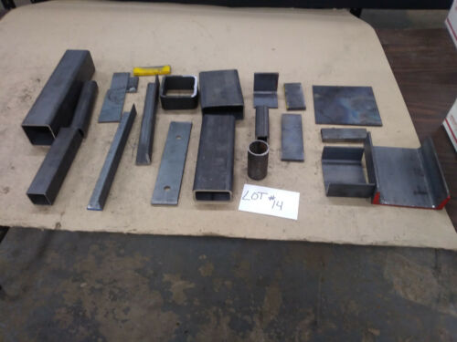 Assorted Pieces Steel Angle, Flat, Square, Rectangle, and/or Channel (LOT #14)