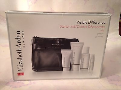 Elizabeth Arden Nwb Visible Difference Set For Oily Skin 5 Pc Set Special Price