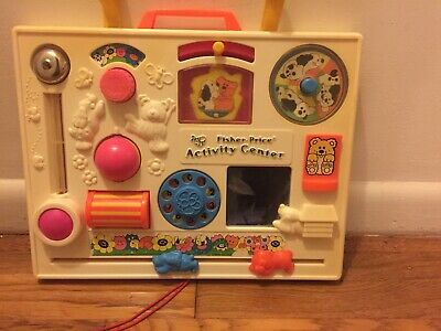 Vintage 1973 Fisher Price Activity Center #134 Busy Box 10 activities