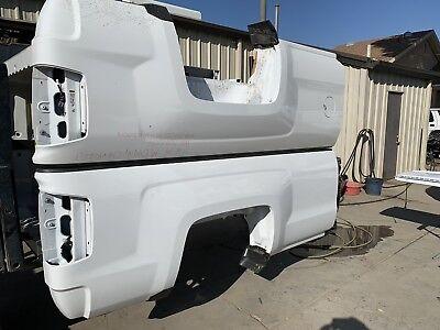 14-19 Chevy Silverado 8' Long Bed White New Takeoff(BARE) Pickup Box Only - Chevy Silverado Long Box