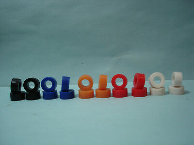 10 PAIR REAR AURORA AFX H.O. SCALE SLOT CAR COLORED SILICONE TIRE LOT #10