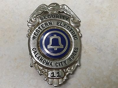 Vintage Obsolete Western Electric / Bell Telephone Oklahoma City Security Badge