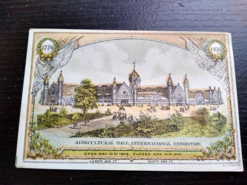1876 H.J. Toudy & Co. Trade Card Agricultural Hall International Exposition