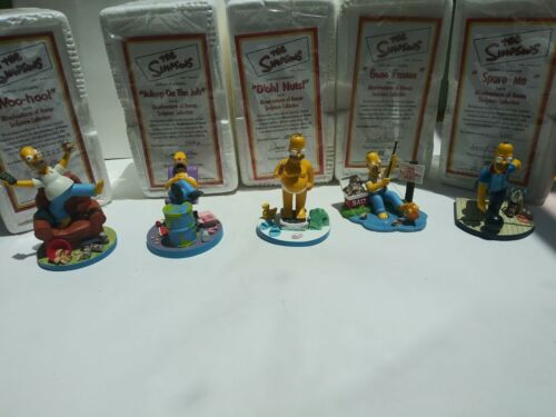 The Simpsons: Misadventures of Homer 5 piece set Hamilton Collection 2001