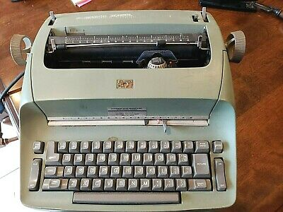 Ibm Selectric Electric Typewriter Model 72 Green For Repair Or Parts As Is