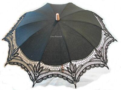 BLACK Lace Parasol](Black Parasol)