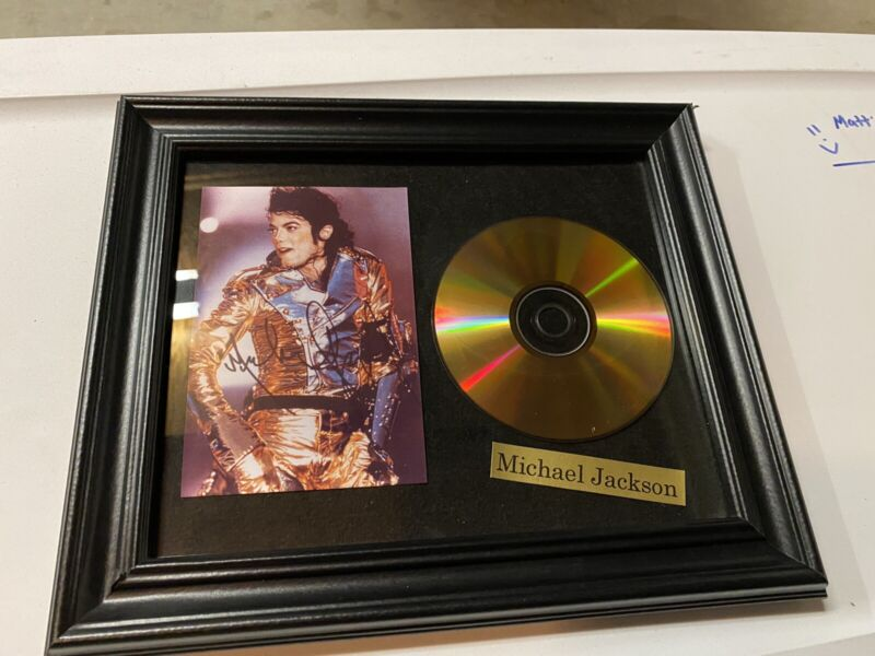 Michael Jackson Signed Reprint Framed Collectible 51/250