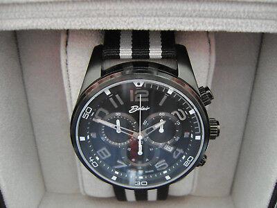 Mans Swiss Chrono New Belair USA watch company Black 44mm sapphire Best new