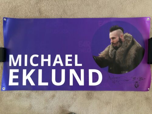 MICHAEL EKLUND / EARP-A-PALOOZA 2018 / AUTOGRAPHED SIGNED BANNER / WYNONNA EARP