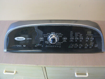 (Whirlpool Cabrio Clothes Washer W10269599 console and user interface)