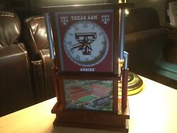 Super Rare Vintage Texas Aggies A&M Desk Clock Discontinued Working perfectly!