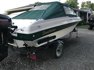 17 foot bow rider 115 hp outboard